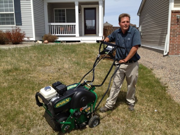 Lawn aeration in Brookfield, WI