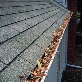 Clogged gutter in Brookfield, Elm Grove and New Berlin, WI