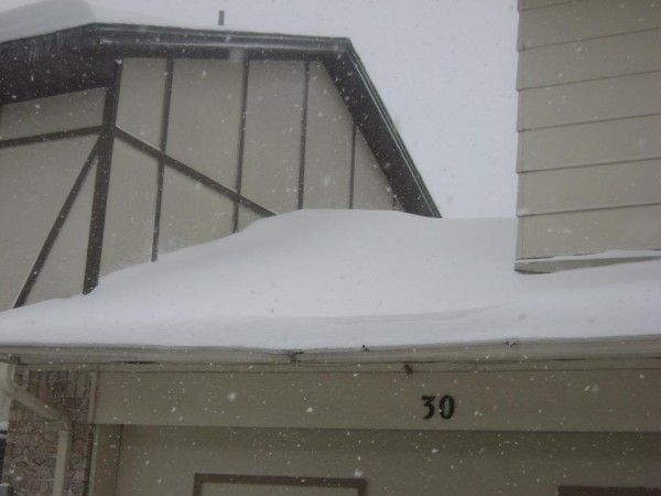 Ice dams in Brookfield, WI