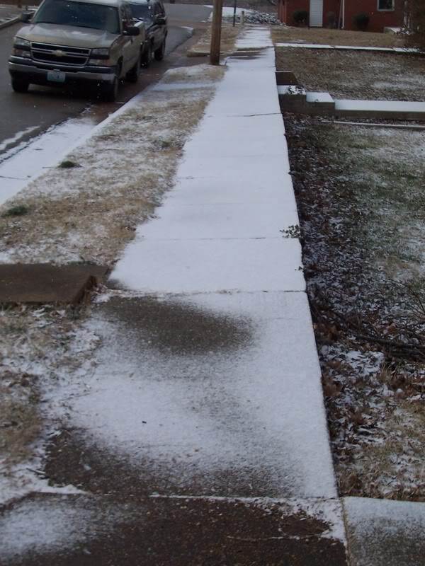 Icy, slippery walkways in Brookfield, WI