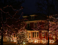 If you'd like a dramatic holiday lighting display without the time commitment, GMS has your home covered. We offer a large selection of outdoor decorating options, all with complete setup and takedown service.