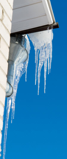 Roof racking prevents ice dams in your gutters